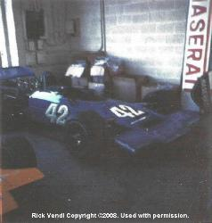 Rick Vendl's Lola T192 at Carl Haas's showroom 1973