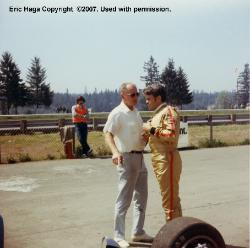 James Mauska(left) team owner with Eric Haga, Jim's driver