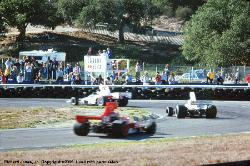 Tony Brise Lola T332 #64 inback and next Brian Redman Lola T332 #1
