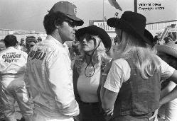 Richard Petty & AJ Foyt in back